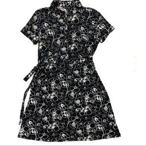 Brooks Brothers Floral Knit Shirt Dress NWT
